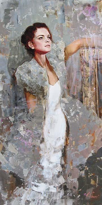 """Irene Sheri """"Silver"""" Oil: www.rogeryostgallery.com/fine-art/irene-sheri/irene-sheri/silver.htm"""